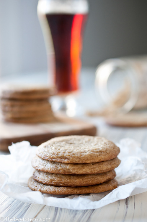 soft batch beer and brown sugar cookies click here for recipe