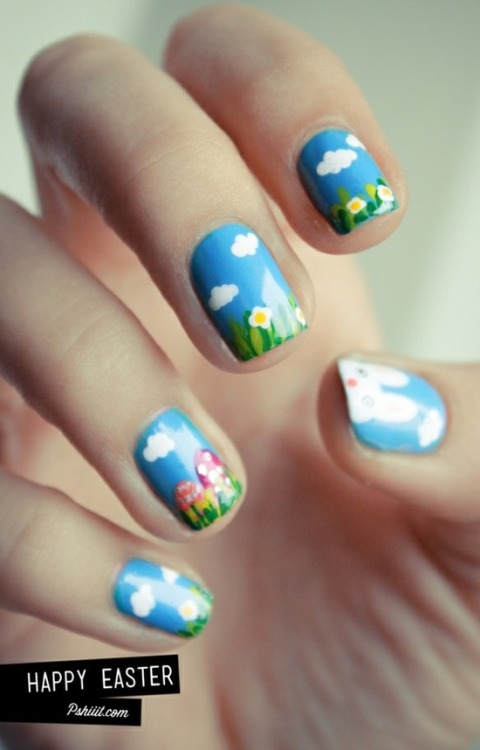 Cute Spring Nails  Ready for an egg hunt?