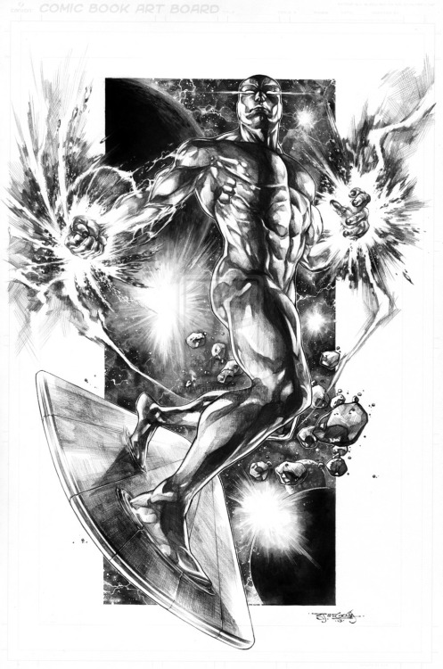 The Silver Surfer By Stephen Jorge Segovia