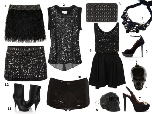 loverebelboutique:  Holiday Fashion in Black I love this season because all things Glam are totally appropriate for all the outing and events you will be attending.  Of course , BLACK is the universal go to color for all things FASHION. Personally it is my favorite color and I never choose to play it boring and neither should you.  This season mix up the Textures! Glitter and Leather, Sequin and Silk, or Beaded and Demin…whatever way you choose to mix it up, Just be sure that its adorned with Accessories. A staple in any fashionistas closet this season is head wear. Beenies, Headbands, Hats and Scarves are just some Ideas.  Try a new hair do and a statement necklace or Great pair of earrings and hair slicked back. Either way you choose your going to look amazing either way.