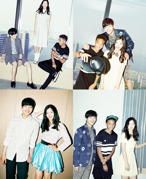 Jaden Smith, Yeo jin goo and Kim yoo jung (Nylon magazine)