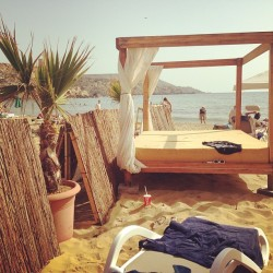 Spent the day here #lush #malta #beach #sun 🌴🌴🌴