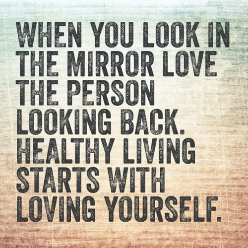 treywillnotlose:  Love yourself. #health #fitness #fitsporation #mirror #love #positive #gymlife #believe