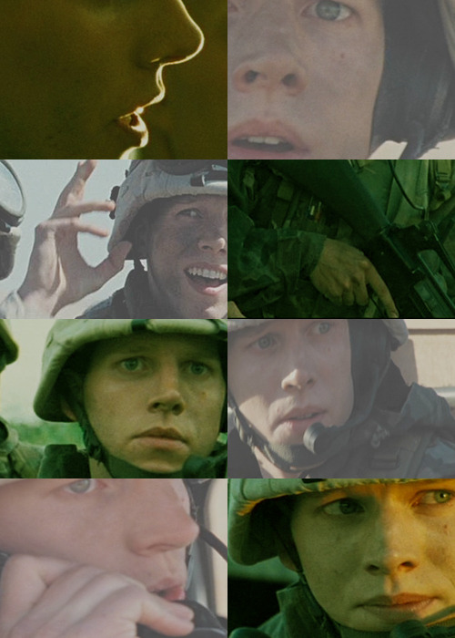 screencap meme - generation kill (nate fick)  hands and lips (@spanielhearted)