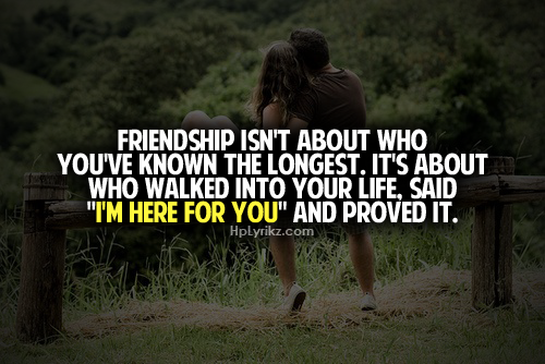 Truu i need of a good as friend