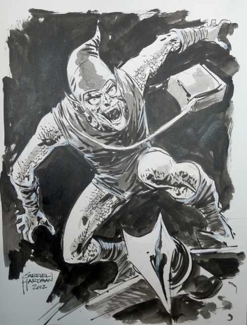 fuckyeahnormanosborn:   Convention sketch by artist Gabriel Hardman.