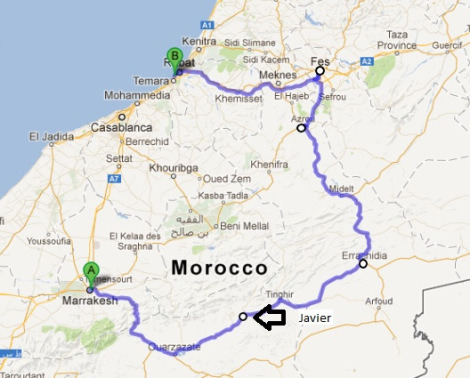 Day 72…Rabat- The Spaniards Hi Guys, My route over the last few days. We left Marakesh with spirits high and ready to ride the famous atlas mountains. Our destination Was Zagora. We left Marakesh […]  Read More