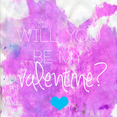 watercolor will you be my valentine ?  // printable valentine
