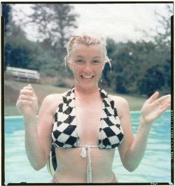MM swimming @ Milton Greene's house in California