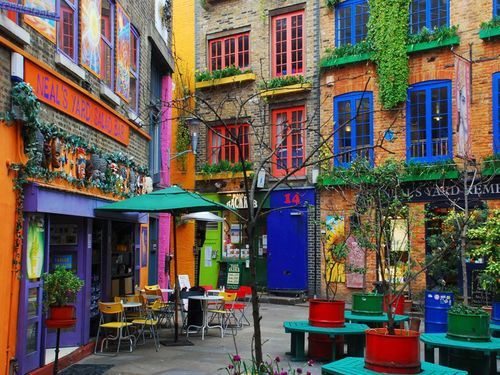 Neal's Yard, London, England.