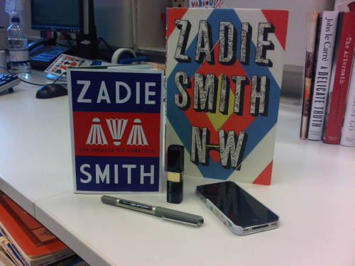 Nice cover for a great story. onthestrand:  COVER REVEAL! A mini Zadie Smith for October 'The Embassy of Cambodia'. Designed by the fantastic Jonathan Gray.  Other items for scale.