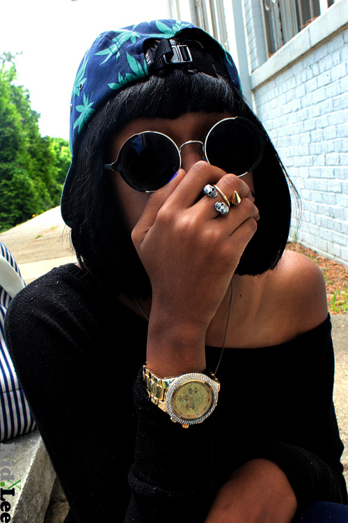 blackfashion:  Huf Hat, Urban Outfitters Classes, H&M Rings trilla.X.mula: 14: DMV Photographer: X.KID.LEE Tumblr Meetup