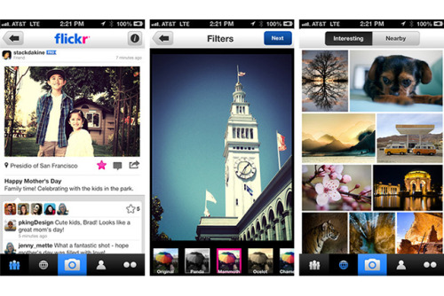 Redesigned Flickr for iPhone adds filters two years after Instagram Yahoo has released version 2.0 of its iPhone Flickr client, which features a new UI and Instagram-like photo filters.