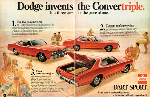 """Three Cars For The price Of One""  Guess the Year… Newsweek, 19??  [1972] Good job, misfitwashere!"