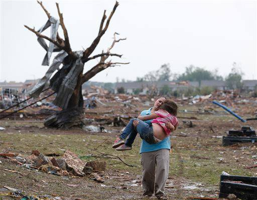 nbcnews:  UPDATE: At least 10 dead following Oklahoma tornado (Photo: Sue Okrocki / AP) A monster tornado roared through the Oklahoma City suburbs Monday, pulverizing blocks and leading to at least 10 fatalities, the Chief Medical Examiner's Office tells NBC News.  More on this developing story.