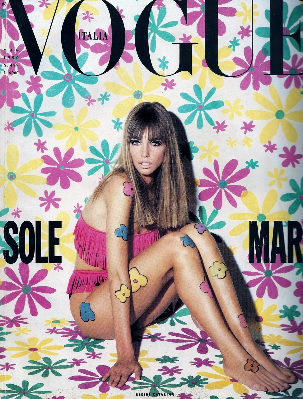 sfilate:  Roberta Chirko photographed by Steven Meisel on the cover of Vogue Italia May 1990 :