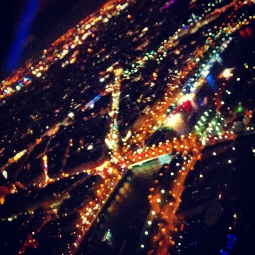 Night view of the city of lights #paris, from the #eiffel (at Tour Eiffel)