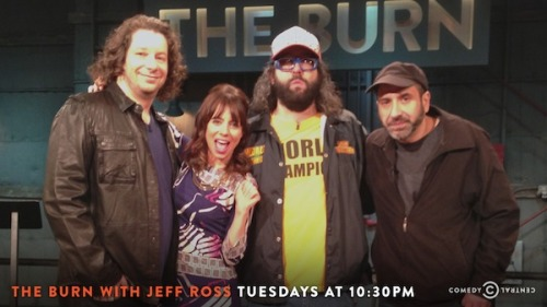 theburntv:  ROAST THIS. (Jeff Ross, Natasha Leggero, Judah Friedlander, Dave Attell)  Watch these guys tonight at 10:30/9:30c on an all-new Burn.