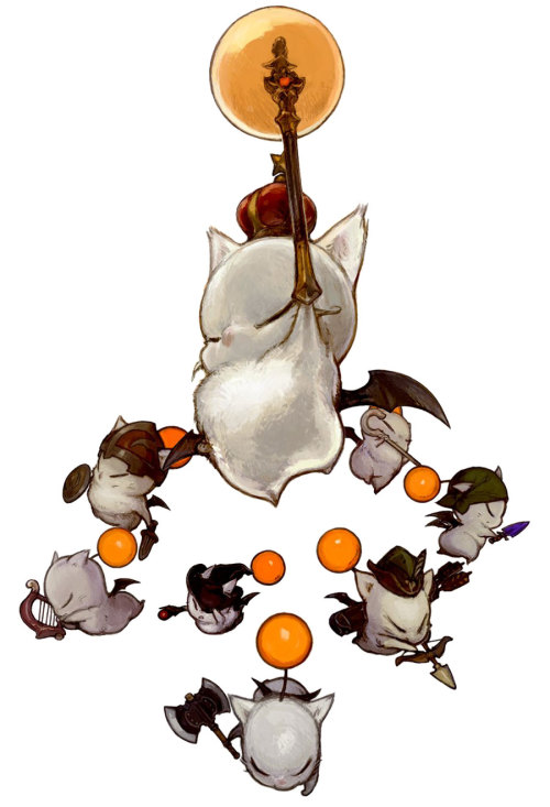 raffapalooza:  Moogles Illustration by Akihiko Yoshida