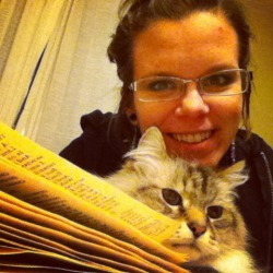 Carolyn and Frank, the Scholar and Gentlecat.