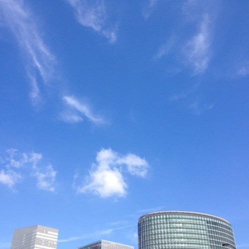 #blue  #sky  #cloud #fine  #morning  #yokohama  #love #lv4u #peace