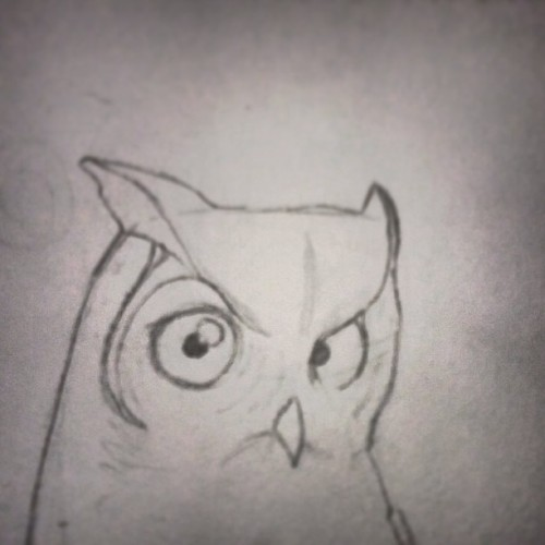 We be must killers, children of the wild one. #wip #owl #drawings