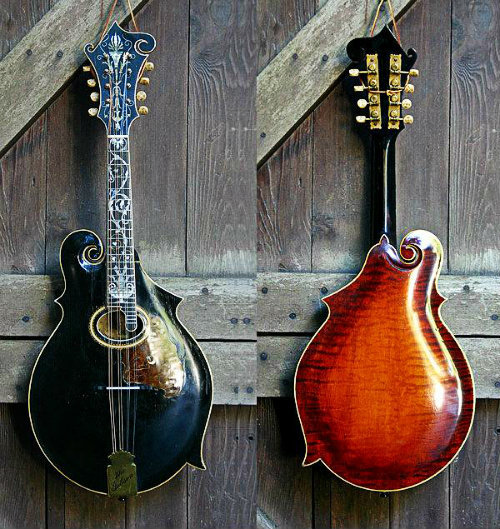 grayskymorning:  baroquenoise:  1909 Gibson F4 Mandolin - Serial #5123