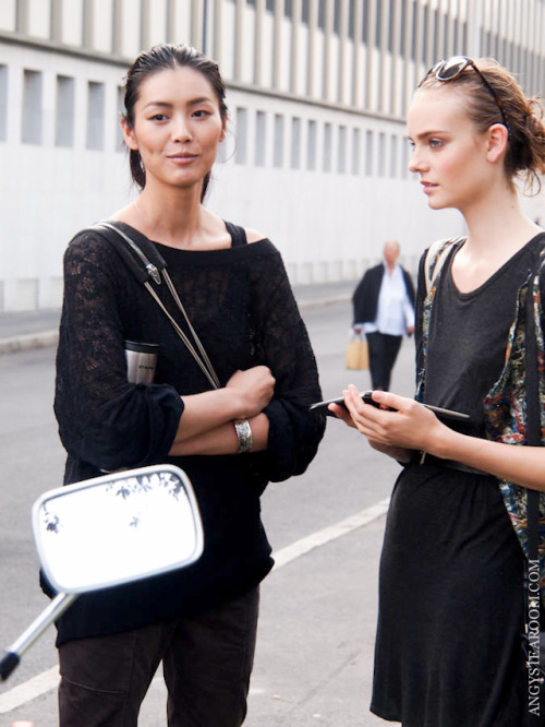 Liu Wen and Nimue Smit