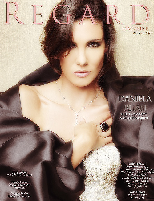 Daniela Ruah on the December cover for Regard Magazine