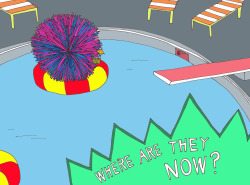 cc-studios:  The Koosh Ball's just kickin' it these days.  Get more Where Are They Now? from Broad City's Abbi Jacobson.  It took some heavy research to find where THE KOOSH BALL WAS. Totally just kickin' it, livin' off those sales resids.