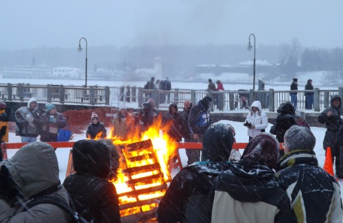 Bonfire on Shepard Park Beach Lake George Winter Carnival Lake George, N.Y. February 2, 2013