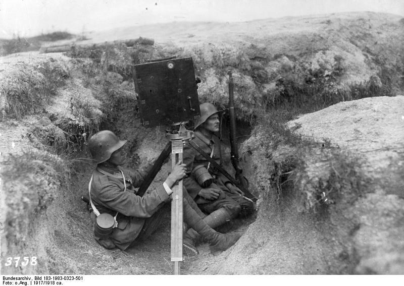 fyeah-history:  German film crew recording the action, 1917