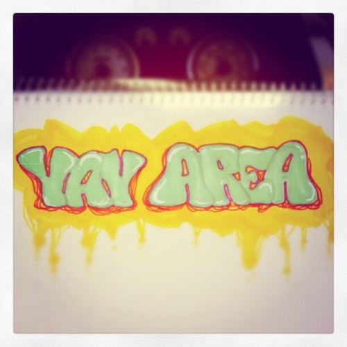 Wannabe graffitti doodle while chillin at the beach. #yayarea #markerart #typography #arte