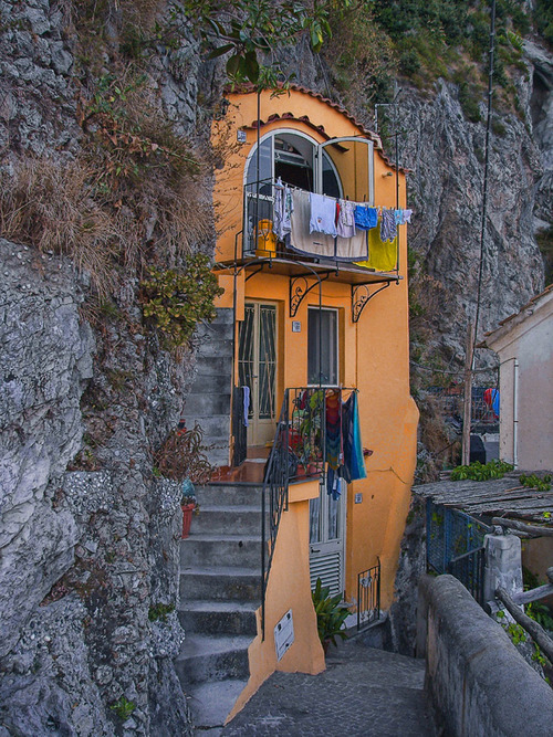 "{sunday place to be} ""La casa nella rocia, Amalfi, Italy"" (the house on the stone) via myfotolog"