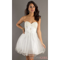 Dave & Johnny Strapless Prom Dresses, Babydoll Dresses- PromGirl   (clipped to polyvore.com)