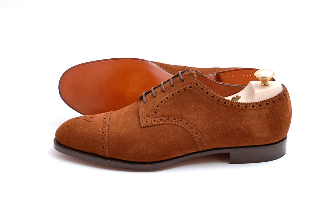 alifewellsuited:  Edward Green Cardiff Coffee Men's Suede Shoes
