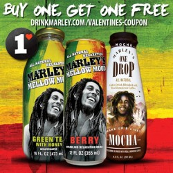 Share the love: Buy on get one free drinkmarley.com/valentines-coupon