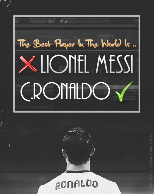 The Best Player In The World Is ..