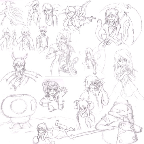 8'D havn't uploded much recently…this is my last sketch dump I uploaded to DA 8'D a lot of it is just my OC's but there are a few pieces of fanart! 8D umm ENJOY!!!