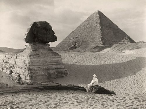 "anotherafrica:  SYMBOLS & MYSTICISM #30 Quietly poised. Great Sphinx, Egypt. Photograph by Donald McLeish, 1921 In 1928 National Geographic Editor Gilbert H. Grosvenor wanted ""outdated"" photographs of the Great Sphinx of Giza—images made prior to excavation—removed from the archive. This 1921 photo by Donald McLeish survived and has been in the image collection for over 90 years. Courtesy of the National Geographic. (via Sphinx Picture — Egypt Wallpaper — National Geographic Photo of the Day)"