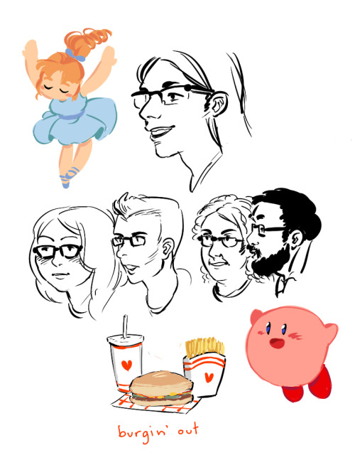 doodles while my friends played mario party