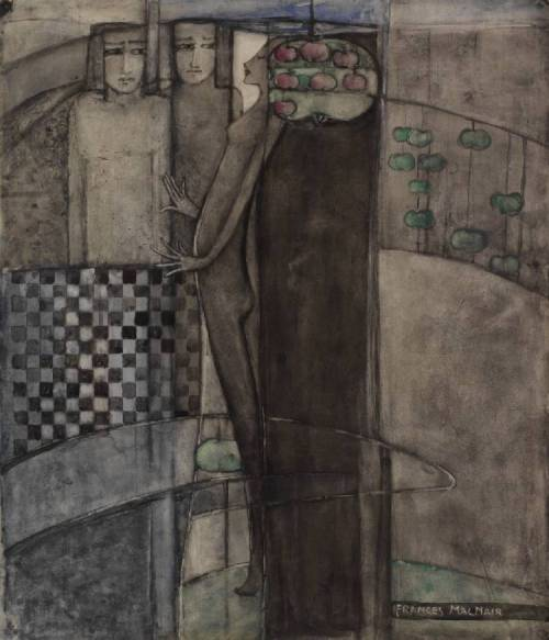 hoodoothatvoodoo:  Frances MacDonald MacNair 'Prudence and Desire' 1910s