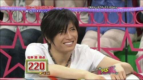 Bringing back some cute caps of G from two episodes of VS Arashi (// ^w^)//