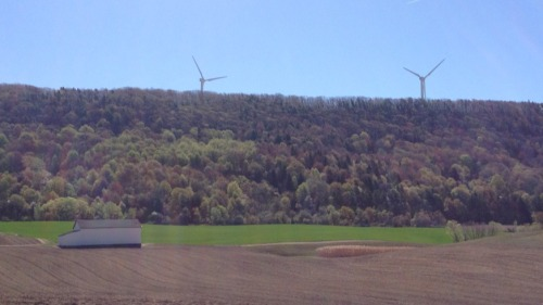 Windmills and Farmland. Cohocton, NY.