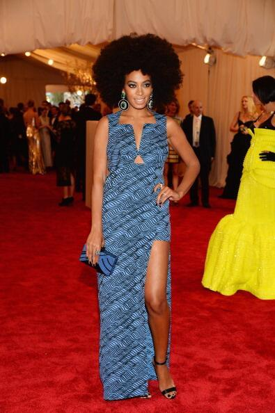 Solange Knowles - Solange Knowles in Kenzo at #MetGala