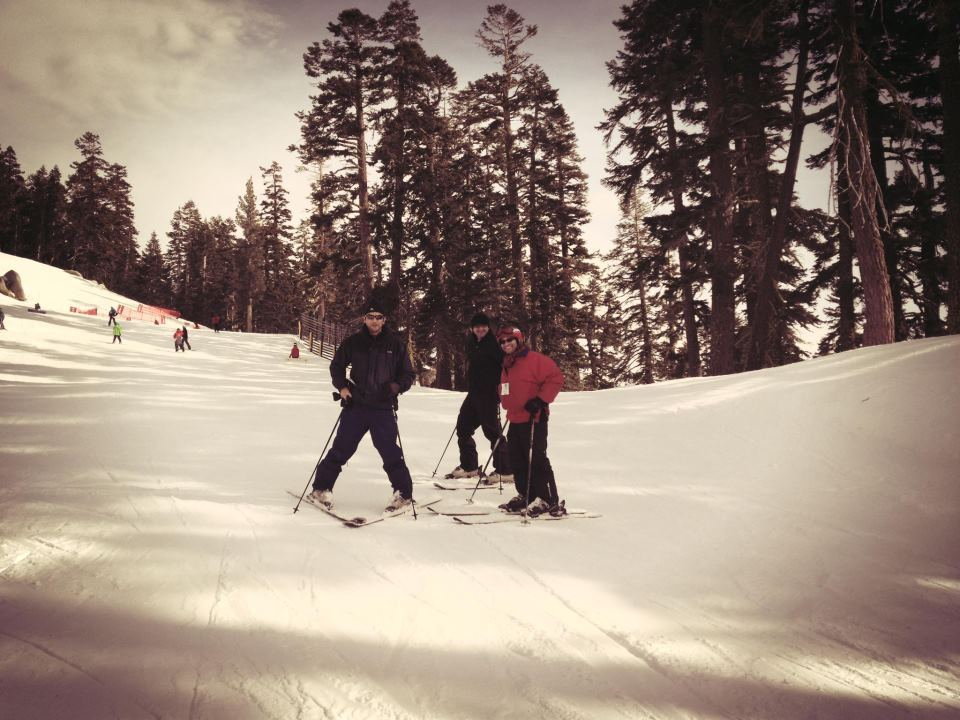 Life is fun on ski slopes!  At Sierra-At-Tahoe - with Jay, Abeer and Saya.