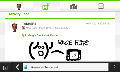 Miiverse on my mobile browser?! It's the little things that make me happy.