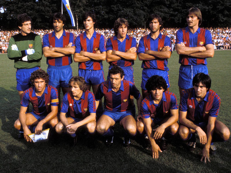FC Barcelona, Summer 1982. Source: MSN/Kicker