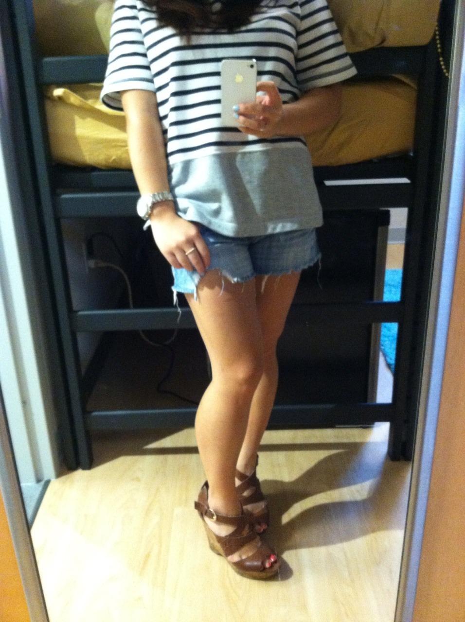 Simple denim shorts