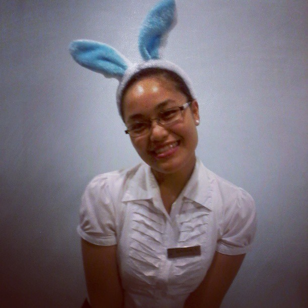 it was Easter… having my OJT… at Bellevue Bohol :) <3